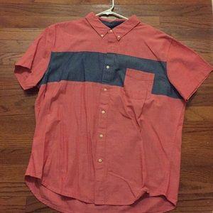 Short sleeve linen dress shirt